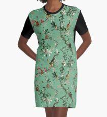 Monkey World Green Graphic T-Shirt Dress