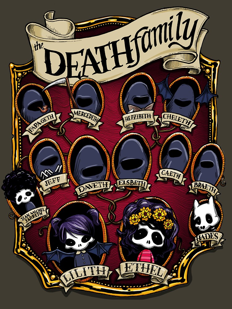 Death Family Tree - The Life of Ethel Death by mizzlecat