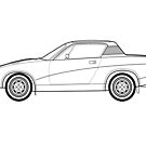 Triumph TR7 Outline Drawing by RJWautographics