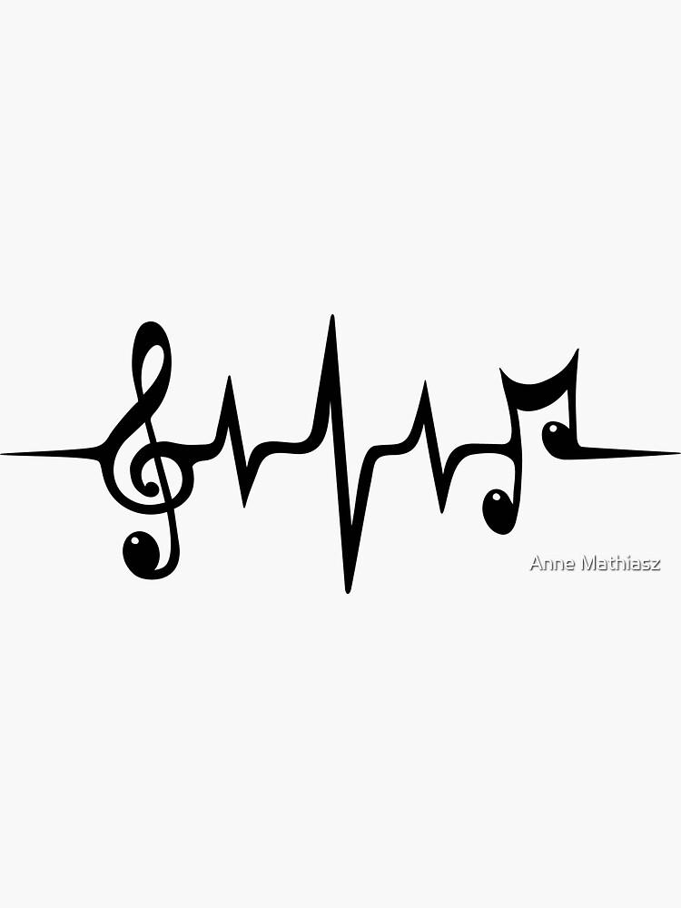 Herzschlag Musikpuls von boom-art