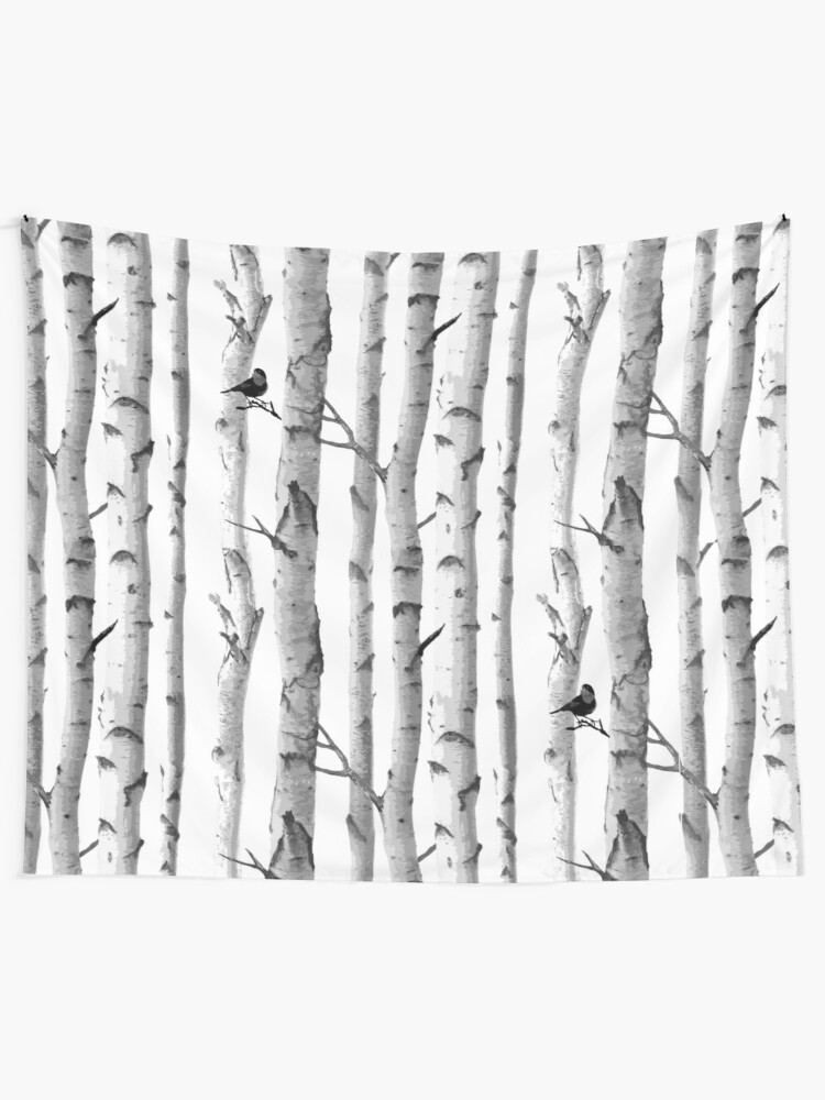 Alternate view of Trees Trunk Design Tapestry