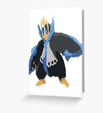 Andy W's Empoleon (No outline) Greeting Card