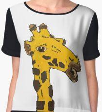 Graphic Giraffe  Chiffon Top