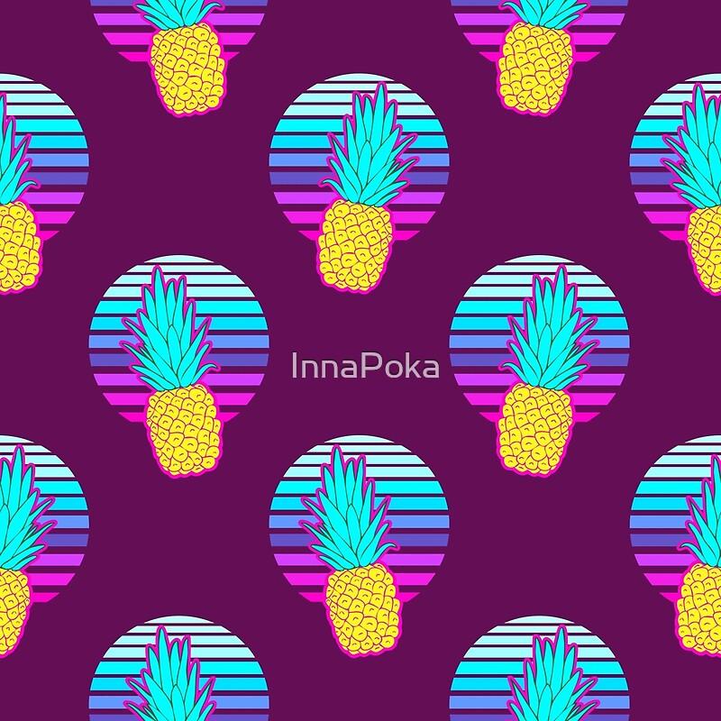 Quot Vaporwave Pineapples Maroon Background Quot By Innapoka