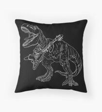 Heavy metal dinosaur graphic style for tattoo and coloring fans. Floor Pillow