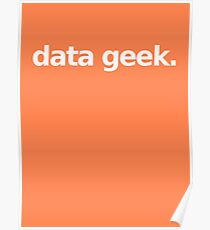 Data Geek - Orange Poster