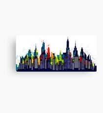 New York City Skyline Concept in Watercolor Canvas Print