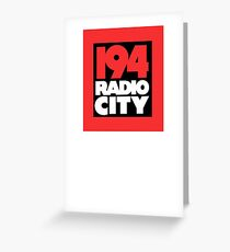 Radio City 194 Liverpool local independent radio logo Greeting Card