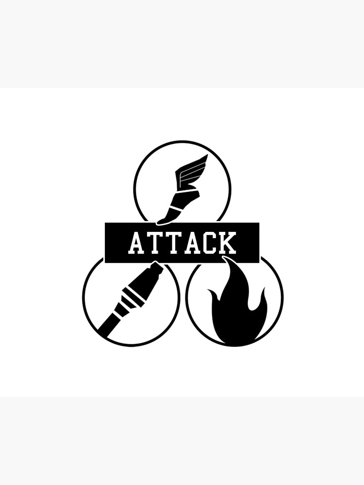 Team Fortress 2 - Attack Class Team Trio Decals - Scout, Soldier, Pyro |  Duvet Cover