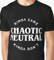 Chaotic Neutral Alignment Kinda Care Kinda Don't Funny Quotes Graphic T-Shirt