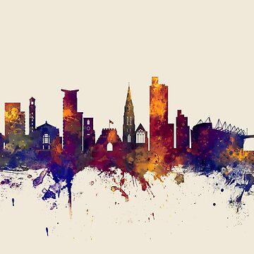 Southampton England Skyline by ArtPrints