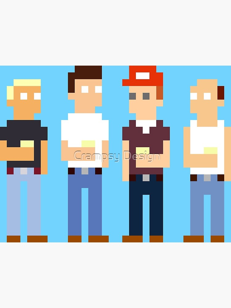 King Of The Hill Pixel Art Photographic Print