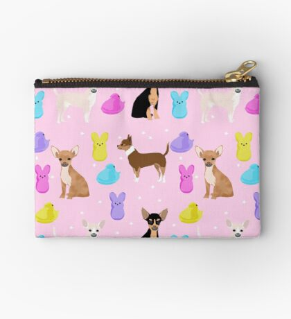 Chihuahua dog breed marshmallow peeps easter spring traditions cute dog breed gifts chihuahuas Zipper Pouch