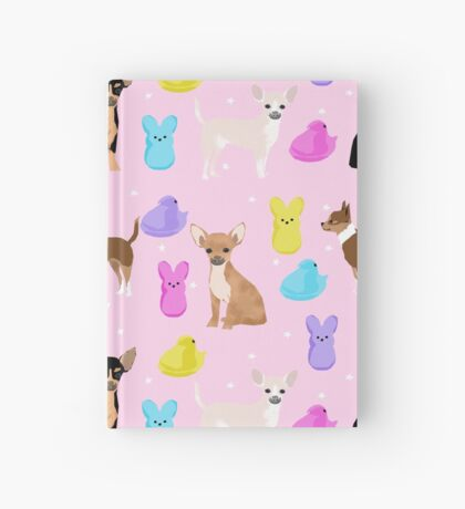 Chihuahua dog breed marshmallow peeps easter spring traditions cute dog breed gifts chihuahuas Hardcover Journal
