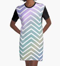 Rainbow Zig Zag Pattern! Graphic T-Shirt Dress