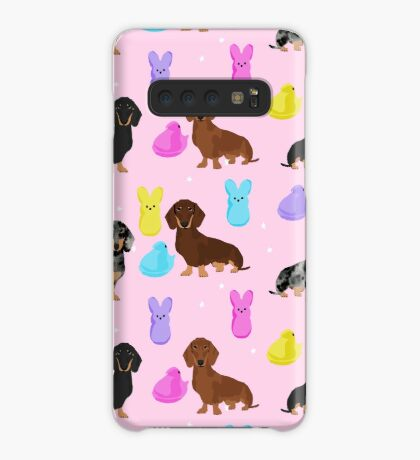 Dachshund dog breed peeps marshmallow treat easter spring doxie lover Case/Skin for Samsung Galaxy
