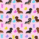 Dachshund dog breed peeps marshmallow treat easter spring doxie lover by PetFriendly