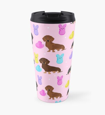 Dachshund dog breed peeps marshmallow treat easter spring doxie lover Travel Mug