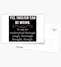 ENGLISH CAN BE WEIRD - Funny Teacher Appreciation Gifts Postcards