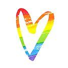 «Corazón acuarela arco iris» de Anna Kutukova