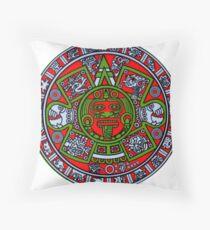 Ancient Mayan Calendar  Throw Pillow