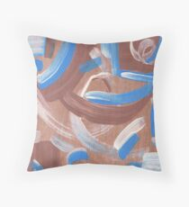 Falling Water Mid-Century Abstract Painting Throw Pillow