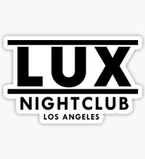LUX (Black) Sticker