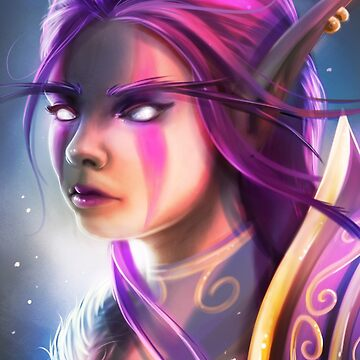 """Night Elf"", Fanart from Warcraft by MoonpixStudios"