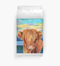 Happy Harry Highland Cow Duvet Cover