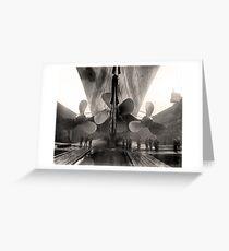 Titanic-Propeller Grußkarte