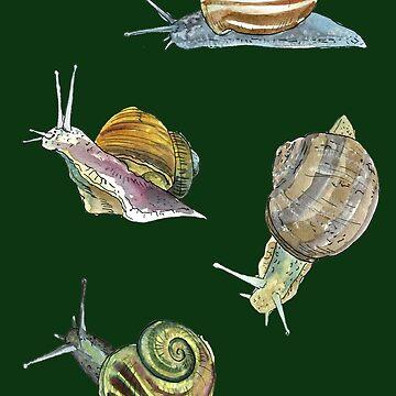 Slippery Snails 2 by RiverbyNight