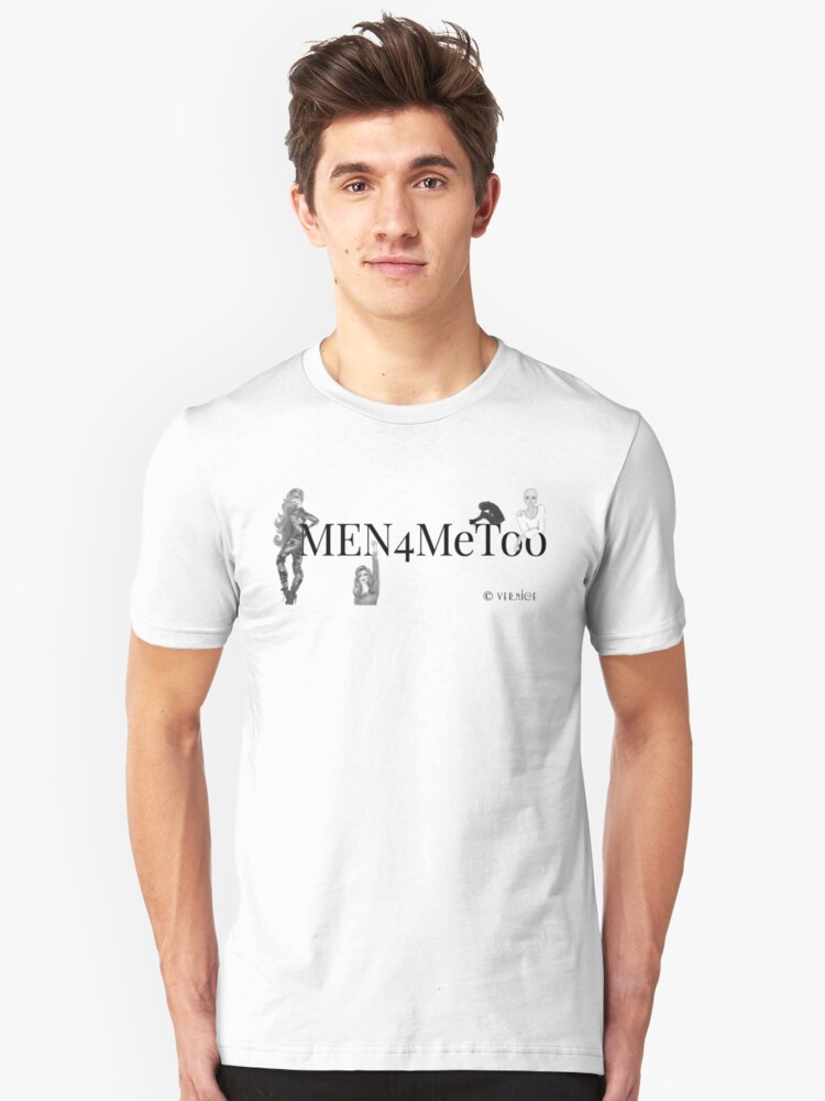 Men4MeToo White or Light Colored Tee Unisex T-Shirt Front