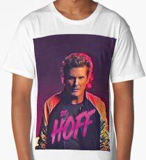 The Hoff - David Hasselhoff Retro Allover Patten Long T-Shirt