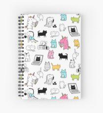 Cats. Dinosaurs. Unicorn. Sticker set. Spiral Notebook
