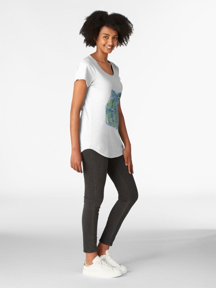 Vista alternativa de Camiseta premium de cuello ancho Leche de planta