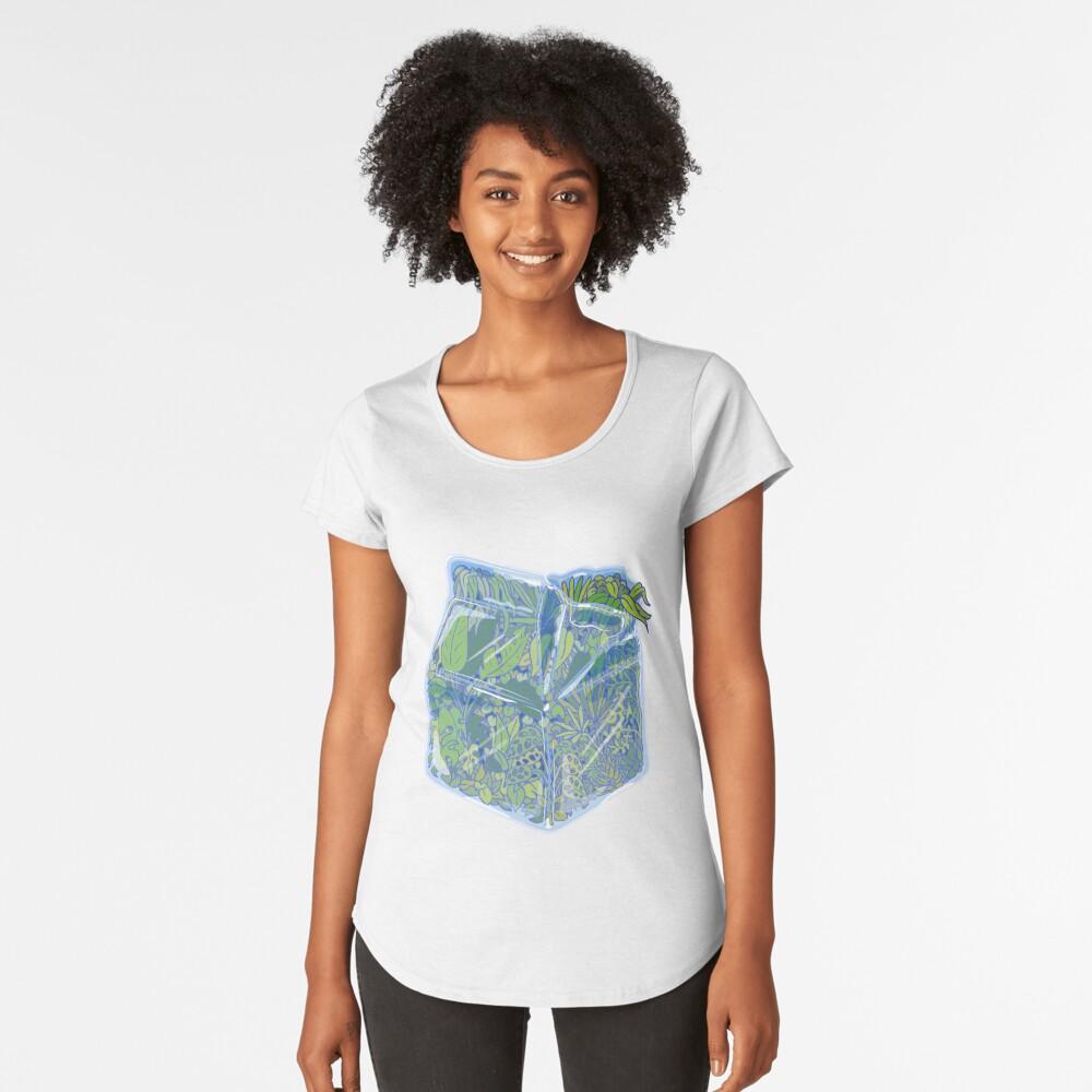 Leche de planta Camiseta premium de cuello ancho