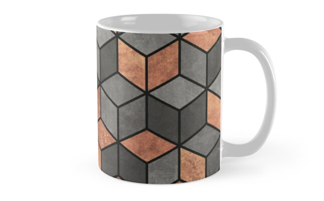 Concrete and Copper Cubes by Zoltan Ratko