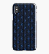 Retro blue iPhone Case