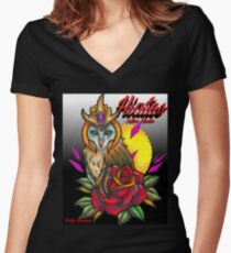 HIATUS Women's Fitted V-Neck T-Shirt