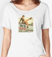 Pin-up Wings WWII Vintage Women's Relaxed Fit T-Shirt