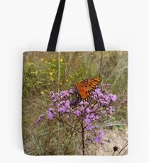 Gulf Fritillary in Ironweed Tote Bag