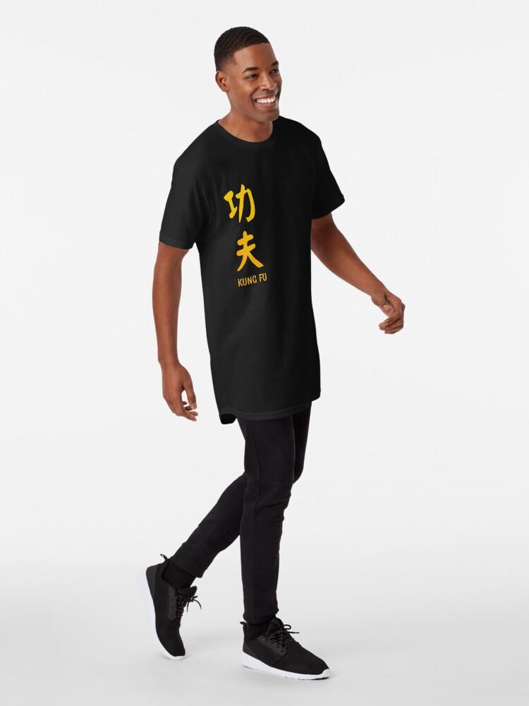 Alternative Ansicht von Kung Fu chinesische vertikale Kalligraphie Longshirt