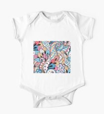 Abstract Floral One Piece - Short Sleeve