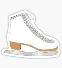 White ice skate Sticker
