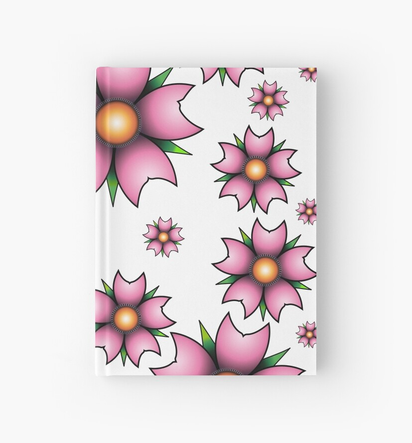 Cherry Blossom Oldschool Tattoo Hardcover Journals By Tattoofreak