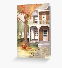 Red Brick House Greeting Card