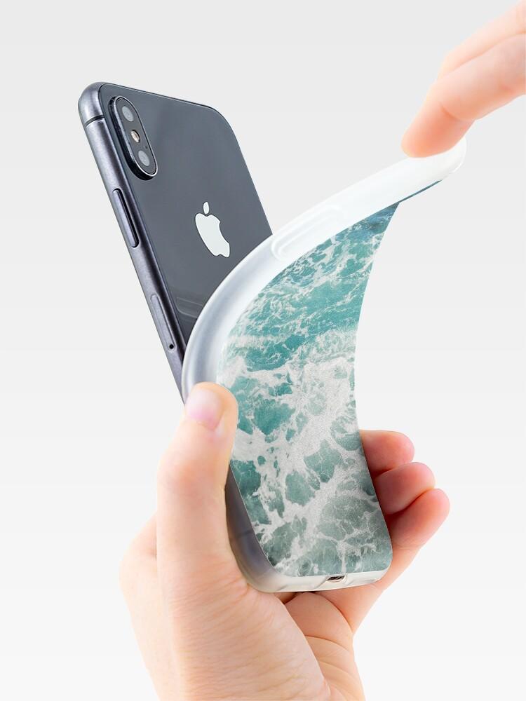 Alternative Ansicht von Blaue Meereswellen iPhone-Hülle & Cover