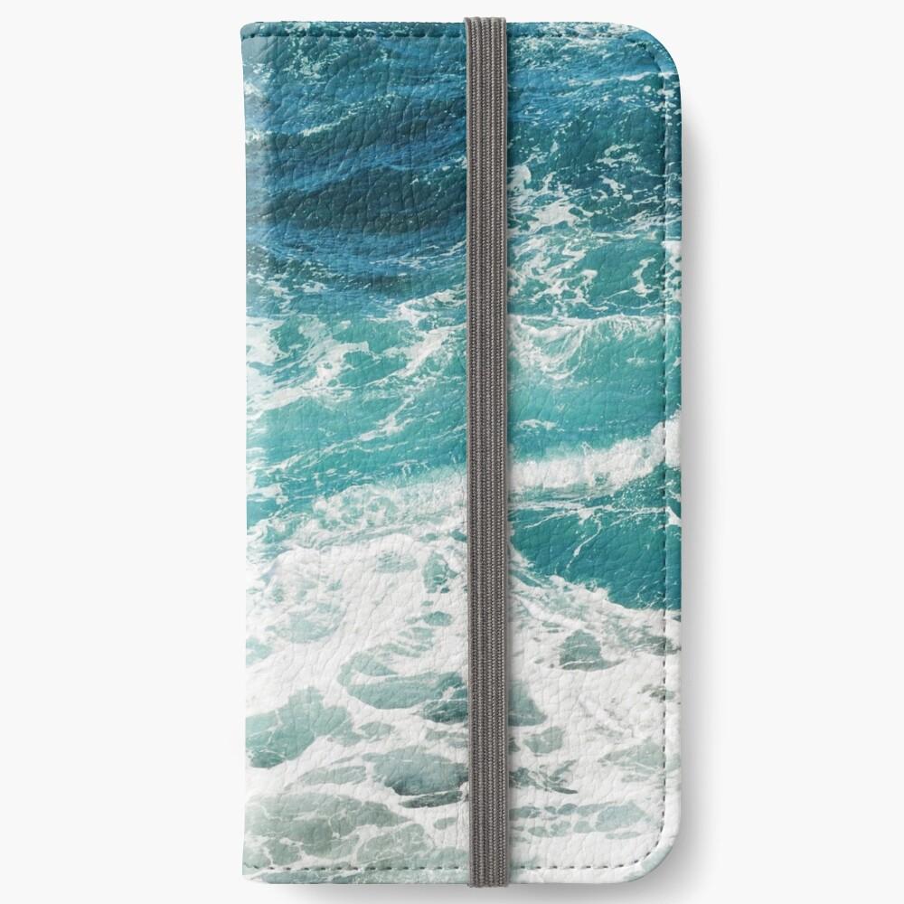 Blue Ocean Waves  iPhone Wallet