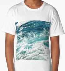 Blue Ocean Waves  Long T-Shirt