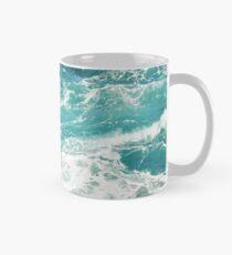 Taza clásica Olas azules del oceano